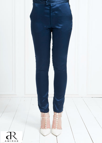 Slim Navy Trouser