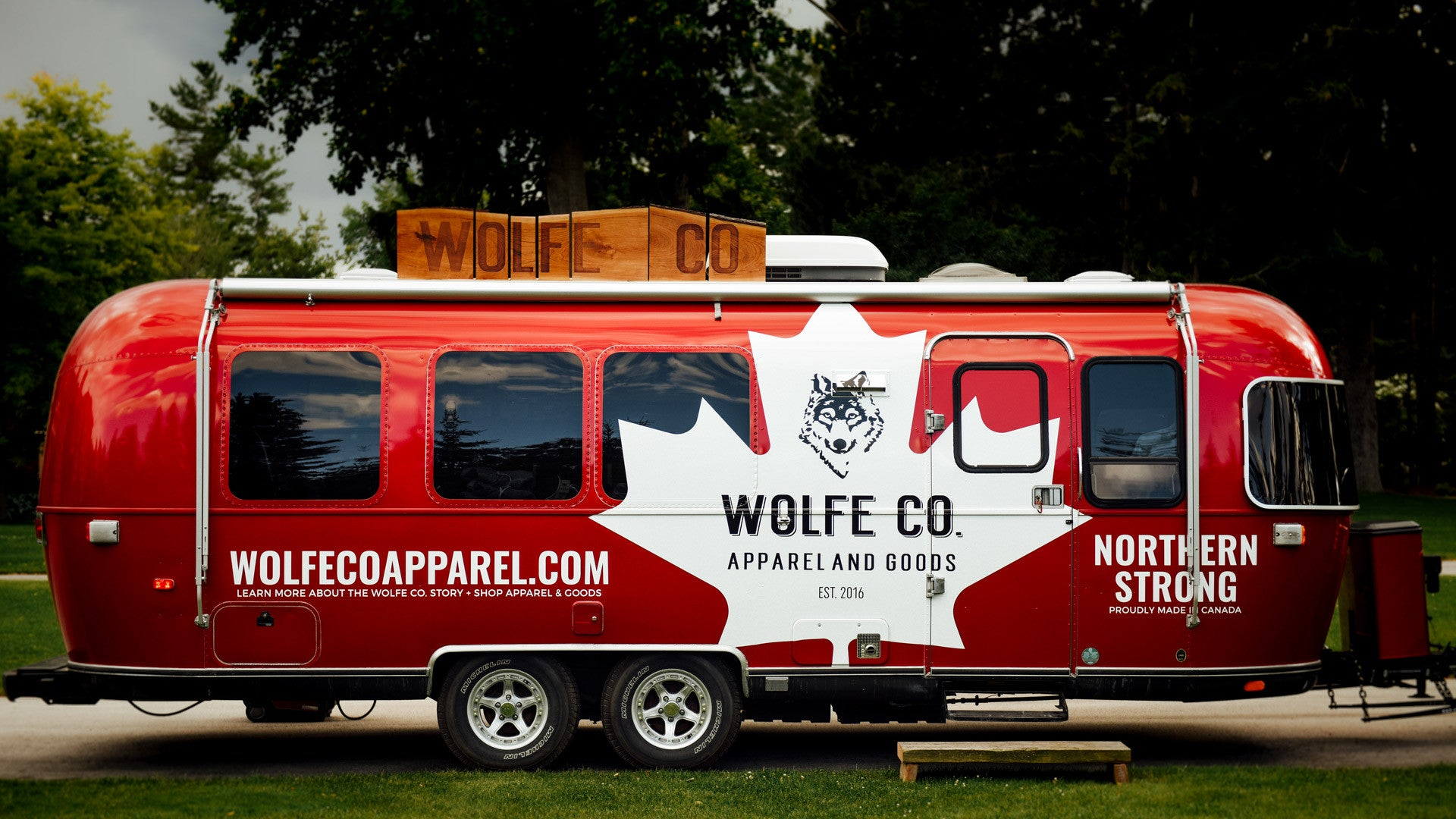 Wolfe Co. Apparel Mobile Pop Up Store Airstream