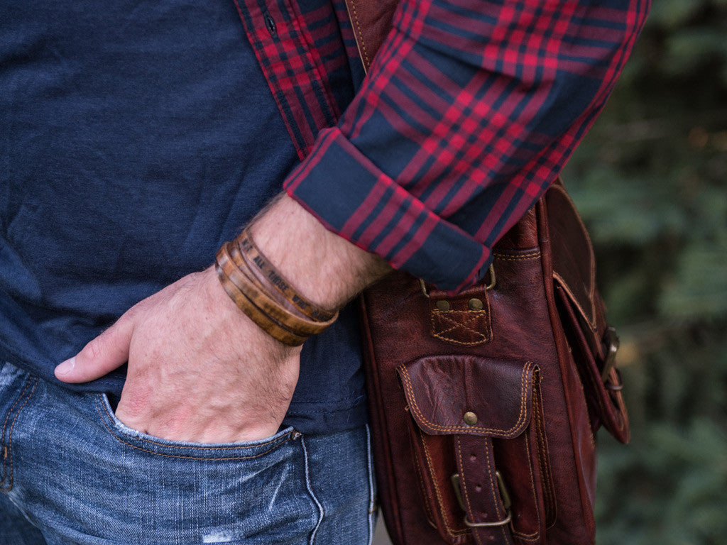 Porter Leather Bracelet Multi-Strap - Wolfe Co Apparel And Goods
