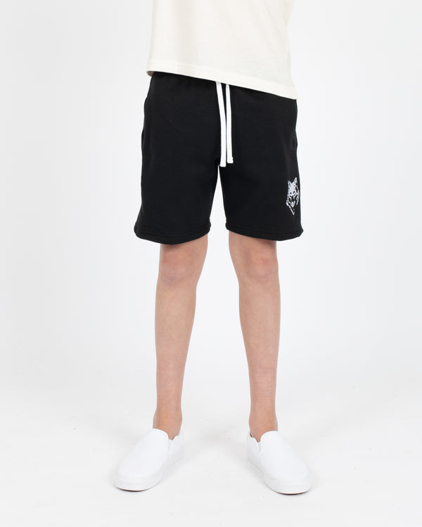Youth Black Camp Short - Bottoms - Wolfe Co. Apparel and Goods