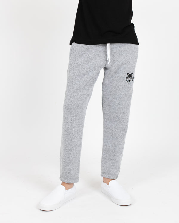 Wolfe Cubs Marled White Sweatpants - Bottoms - Wolfe Co. Apparel and Goods