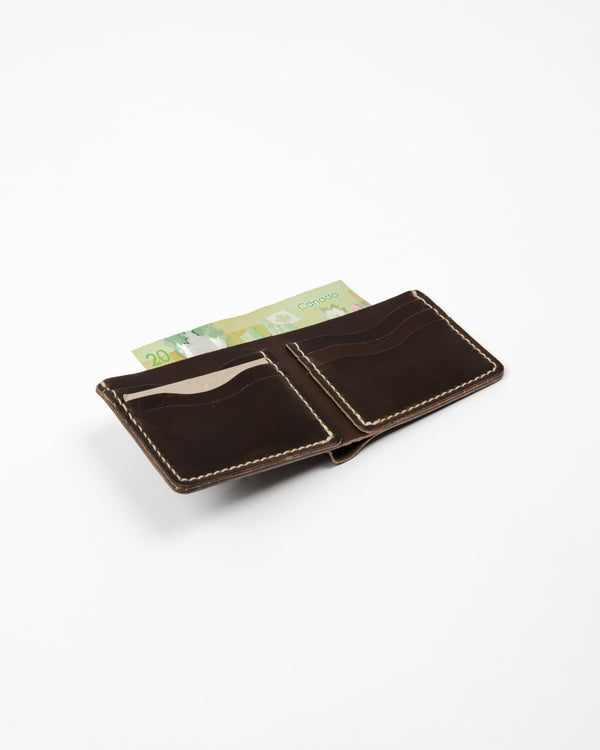 Chocolate Leather Wallet - Wallet - Wolfe Co. Apparel and Goods