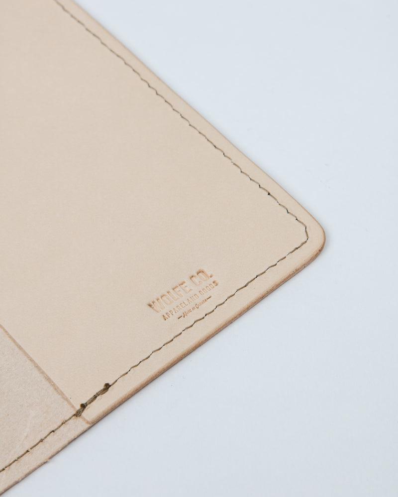 Naked Leather Passport Cover - Wallet - Wolfe Co. Apparel and Goods