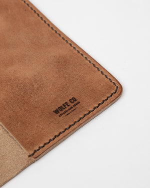 English Tan Passport Cover - Wolfe Co. Apparel and Goods