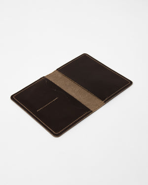 Chocolate Leather Passport Cover - Wolfe Co. Apparel and Goods