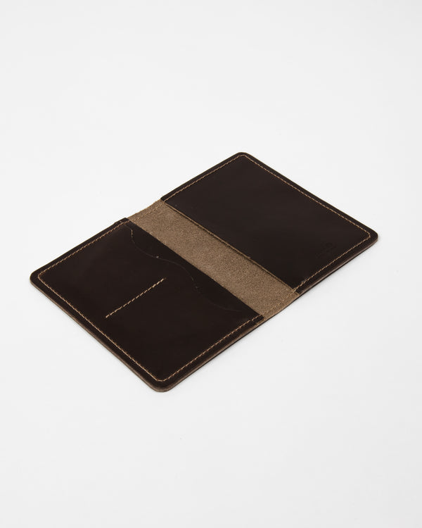 Chocolate Leather Passport Cover - Wallet - Wolfe Co. Apparel and Goods