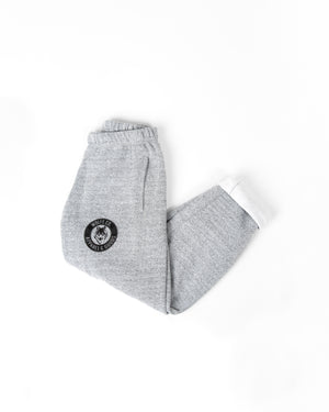 Marled White Vintage Sweatpants - Wolfe Co. Apparel and Goods