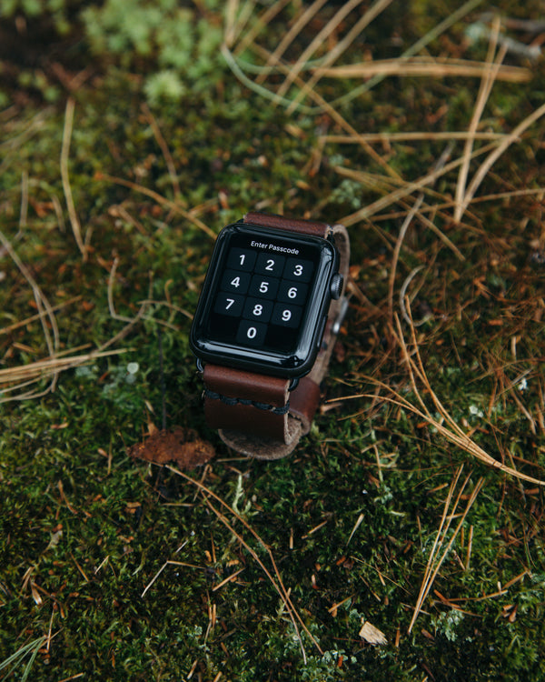 Chocolate Leather Apple Watch Strap - Watch Strap - Wolfe Co. Apparel and Goods
