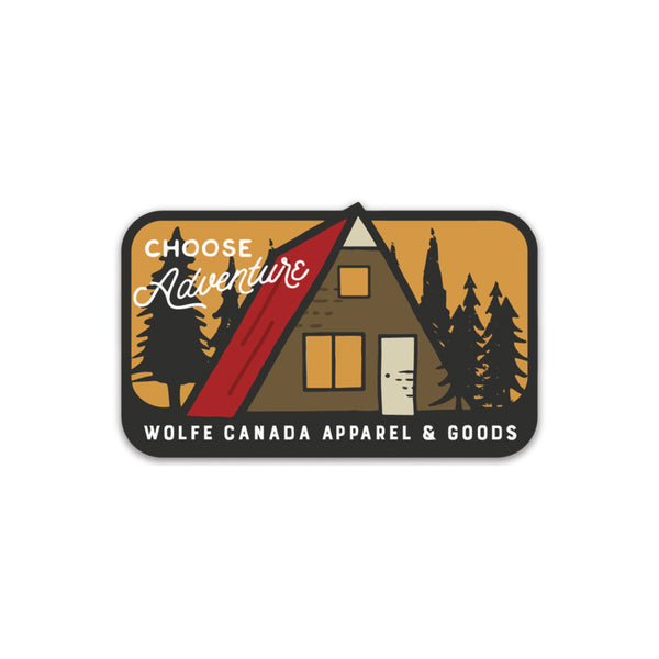 Choose Adventure Sticker - Sticker - Wolfe Co. Apparel and Goods