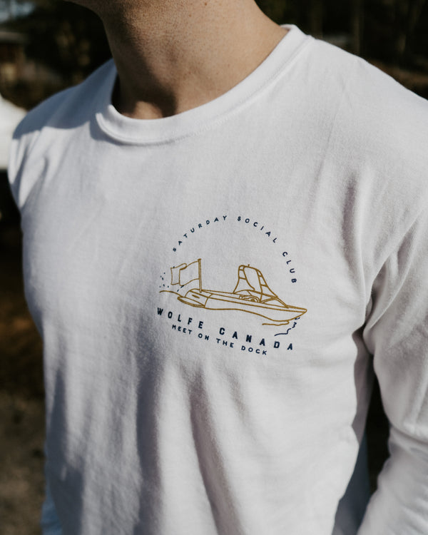 Ski Club Long Sleeve Scoop - Tops - Wolfe Co. Apparel and Goods