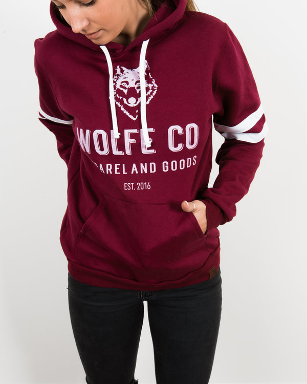 The Tradition Varsity Hoodie - Tops - Wolfe Co. Apparel and Goods