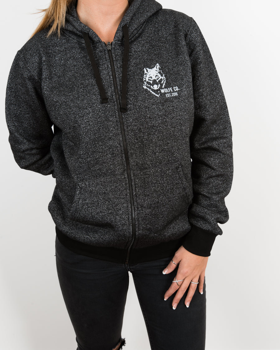 Rise Full Zip Hoodie - Wolfe Co. Apparel and Goods
