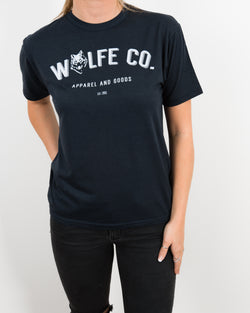 Reilly Navy T-Shirt - Tops - Wolfe Co. Apparel and Goods