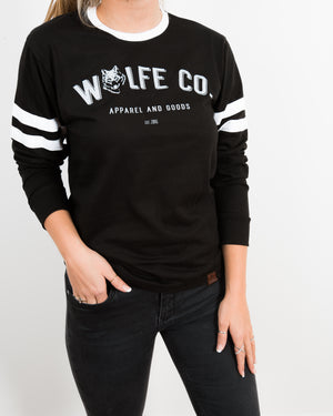 Reilly Varsity Long Sleeve Shirt - Wolfe Co. Apparel and Goods