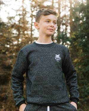 Wolfe Cubs Marled Black Crewneck - Wolfe Co. Apparel and Goods