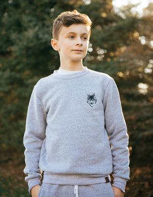 Wolfe Cubs Marled White Crewneck - Wolfe Co. Apparel and Goods