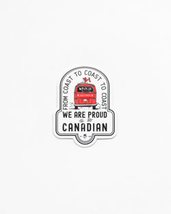 Proudly Canadian Sticker - Sticker - Wolfe Co. Apparel and Goods