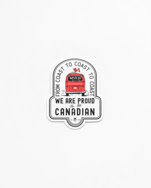 Proudly Canadian Sticker - Wolfe Co. Apparel and Goods