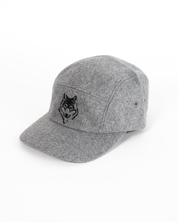 Melton Grey 5 Panel Cap - Hats - Wolfe Co. Apparel and Goods