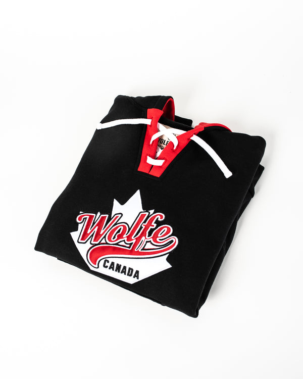Appliqué Hockey Hoodie Small - Tops - Wolfe Co. Apparel and Goods