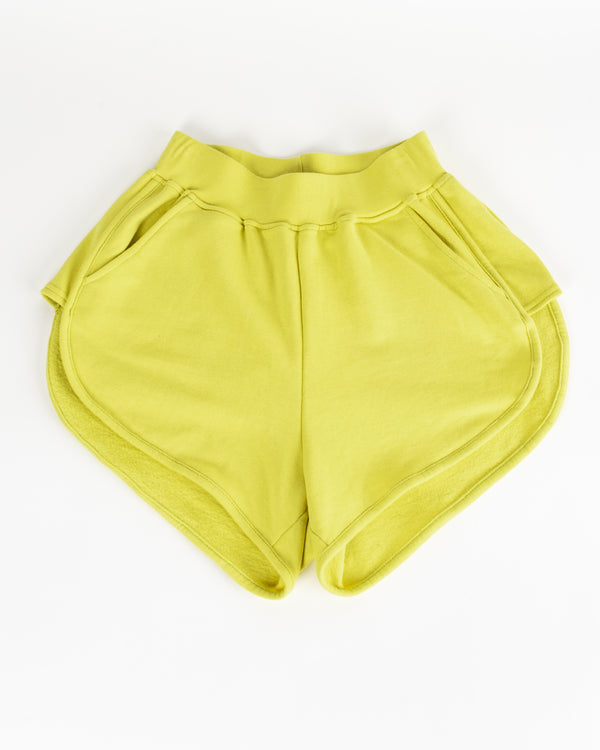 Women's Lime Sweat Shorts in Small - Bottoms - Wolfe Co. Apparel and Goods