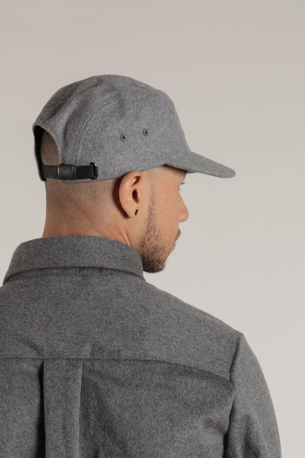 Melton Grey 5 Panel Cap