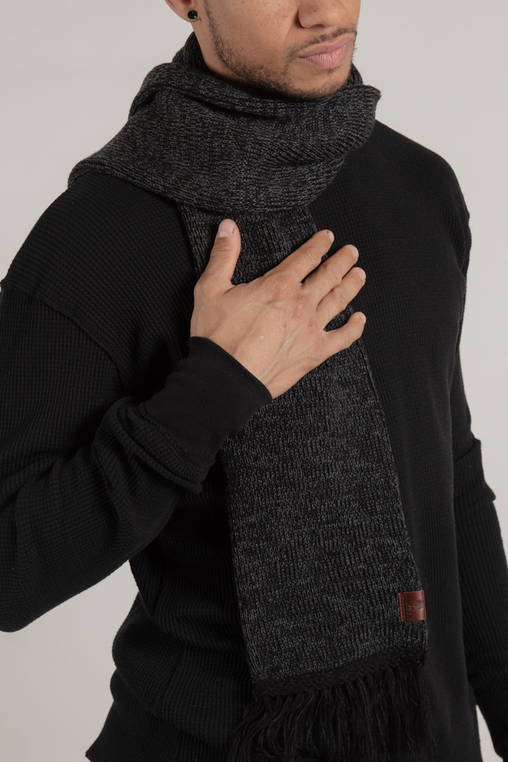 Longford Charcoal Ribbed Scarf - Scarf - Wolfe Co. Apparel and Goods