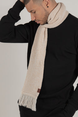 Longford Beige Scarf - Scarf - Wolfe Co. Apparel and Goods