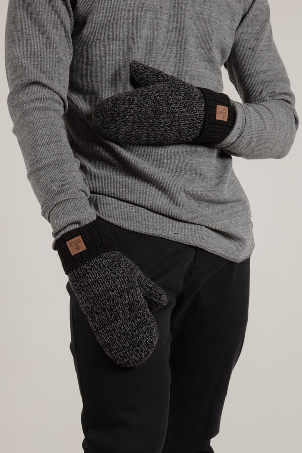 Charcoal Fleece Lined Mitts - Wolfe Co. Apparel and Goods®