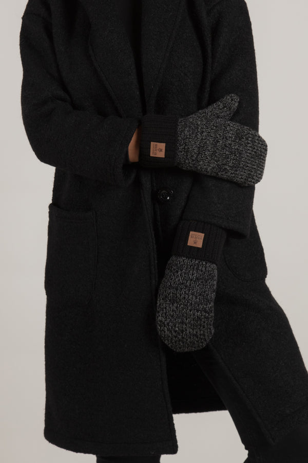 Charcoal Fleece Lined Mitts - Mitts - Wolfe Co. Apparel and Goods