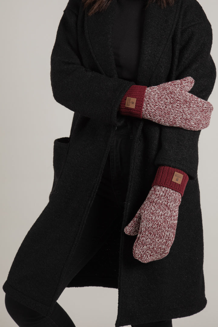 Peppermint Fleece Lined Mitts Made in Canada