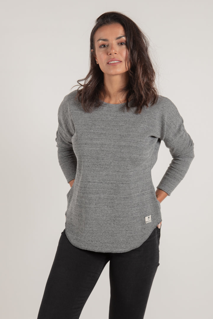 Women's Grey Waffle Knit - Wolfe Co. Apparel and Goods®
