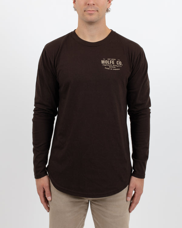Backwoods Scoop Long Sleeve - Tops - Wolfe Co. Apparel and Goods