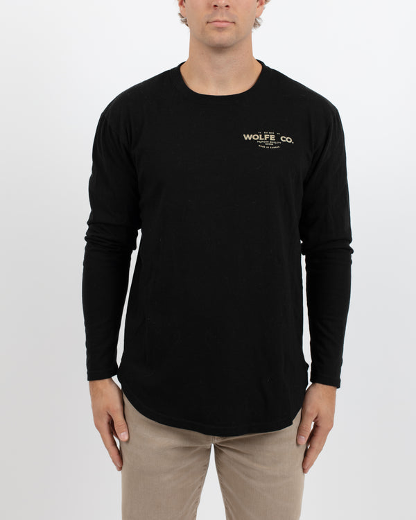 Born in the North Long Sleeve Scoop - Tops - Wolfe Co. Apparel and Goods