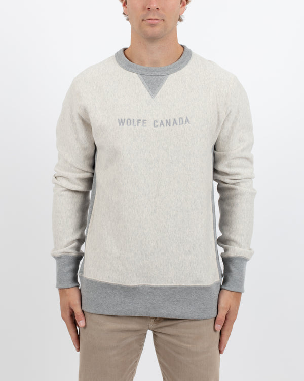 Two Tone Crewneck Pullover - Tops - Wolfe Co. Apparel and Goods