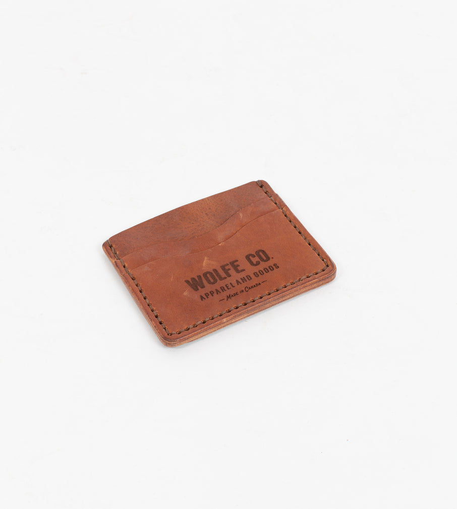 English Tan Flat ID Wallet - Wallet - Wolfe Co. Apparel and Goods