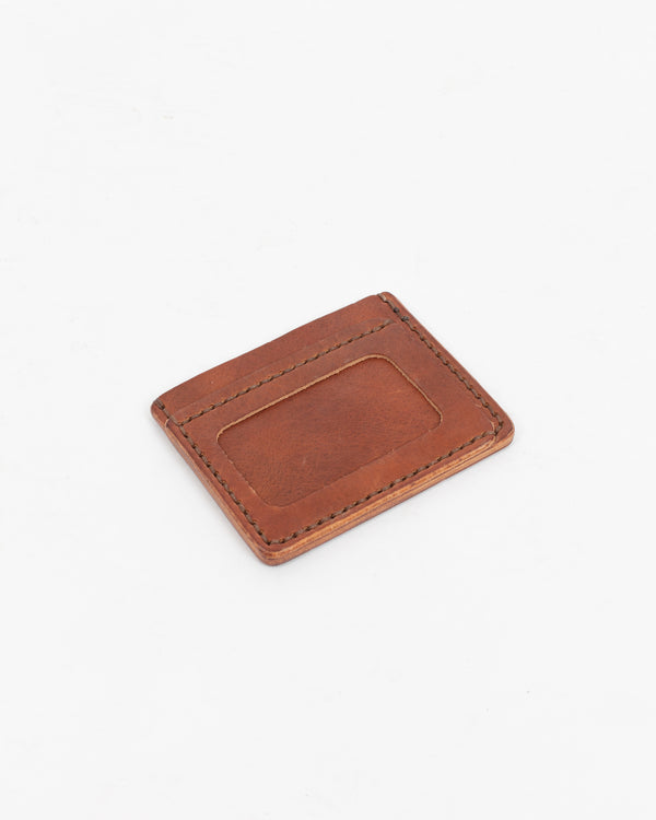 English Tan Flat ID Wallet