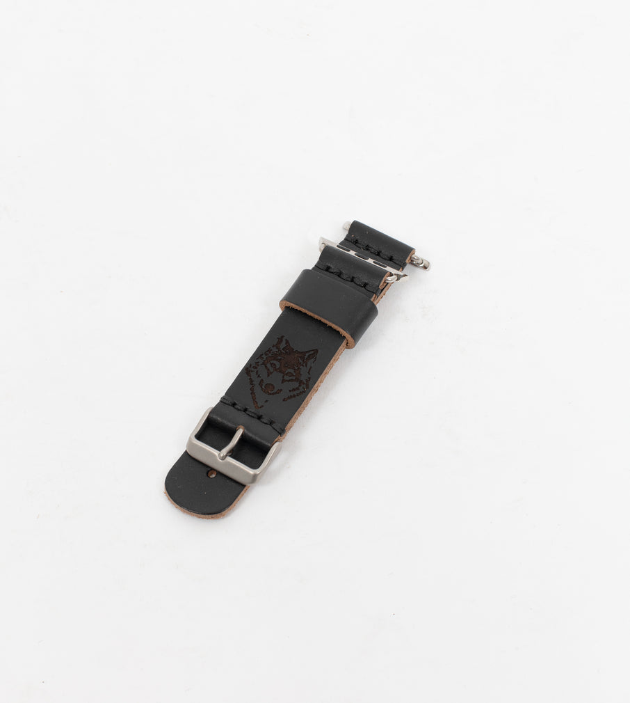 Black Leather Apple Watch Strap - Watch Strap - Wolfe Co. Apparel and Goods