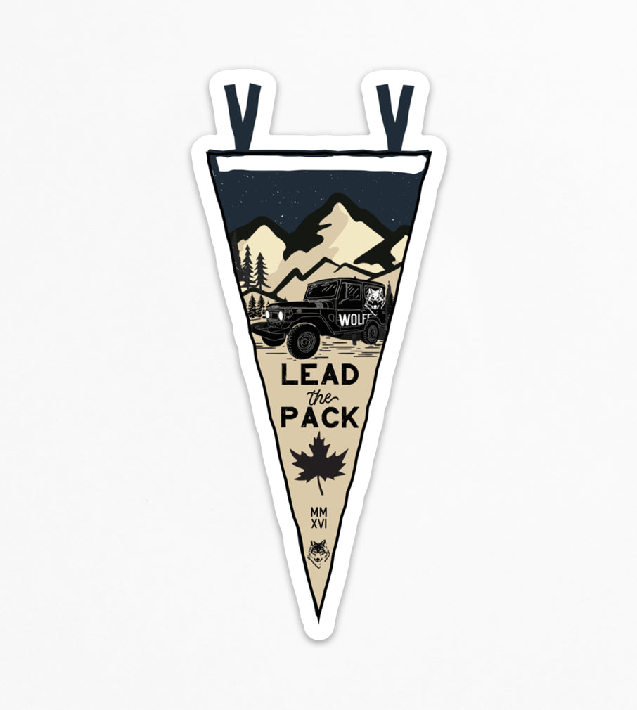 Lead the Pack Sticker - Sticker - Wolfe Co. Apparel and Goods