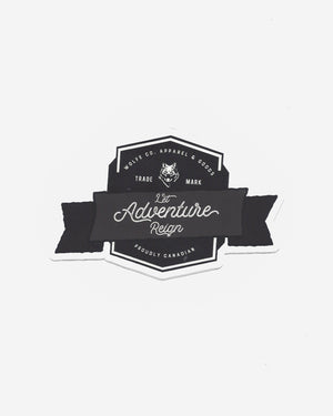 Let Adventure Reign Sticker - Wolfe Co. Apparel and Goods