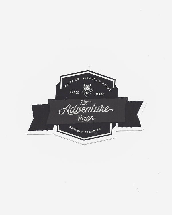 Let Adventure Reign Sticker - Sticker - Wolfe Co. Apparel and Goods