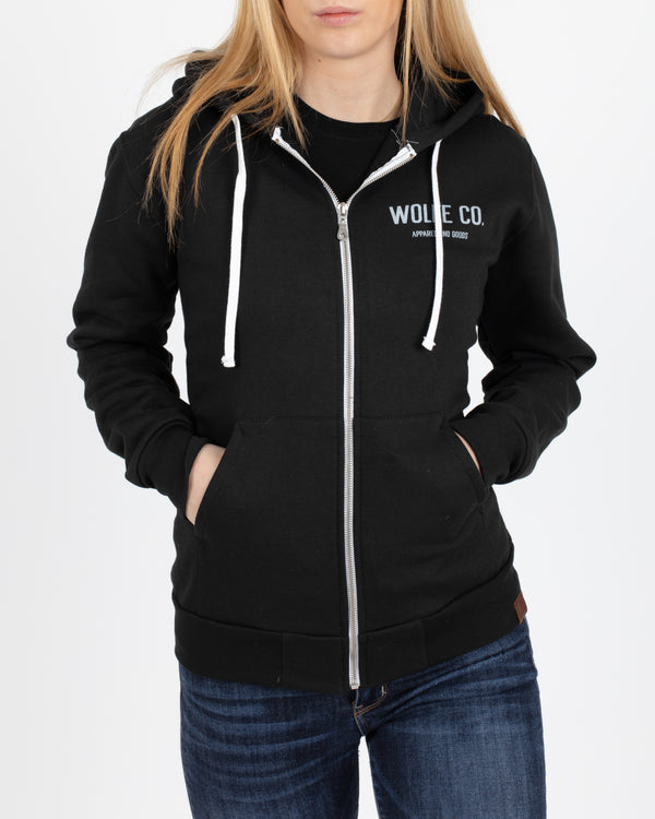 Brixton Full Zip Hoodie - Tops - Wolfe Co. Apparel and Goods