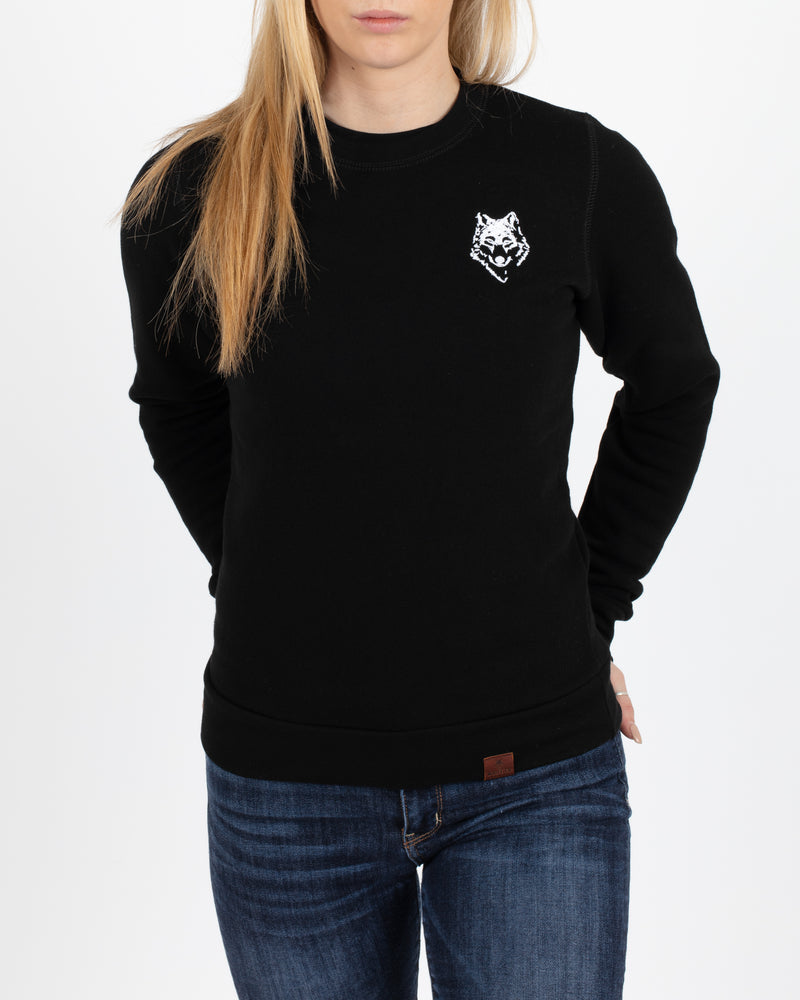 Black Crewneck Pullover - Tops - Wolfe Co. Apparel and Goods
