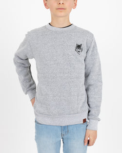 Wolfe Cubs Marled White Crewneck - Tops - Wolfe Co. Apparel and Goods