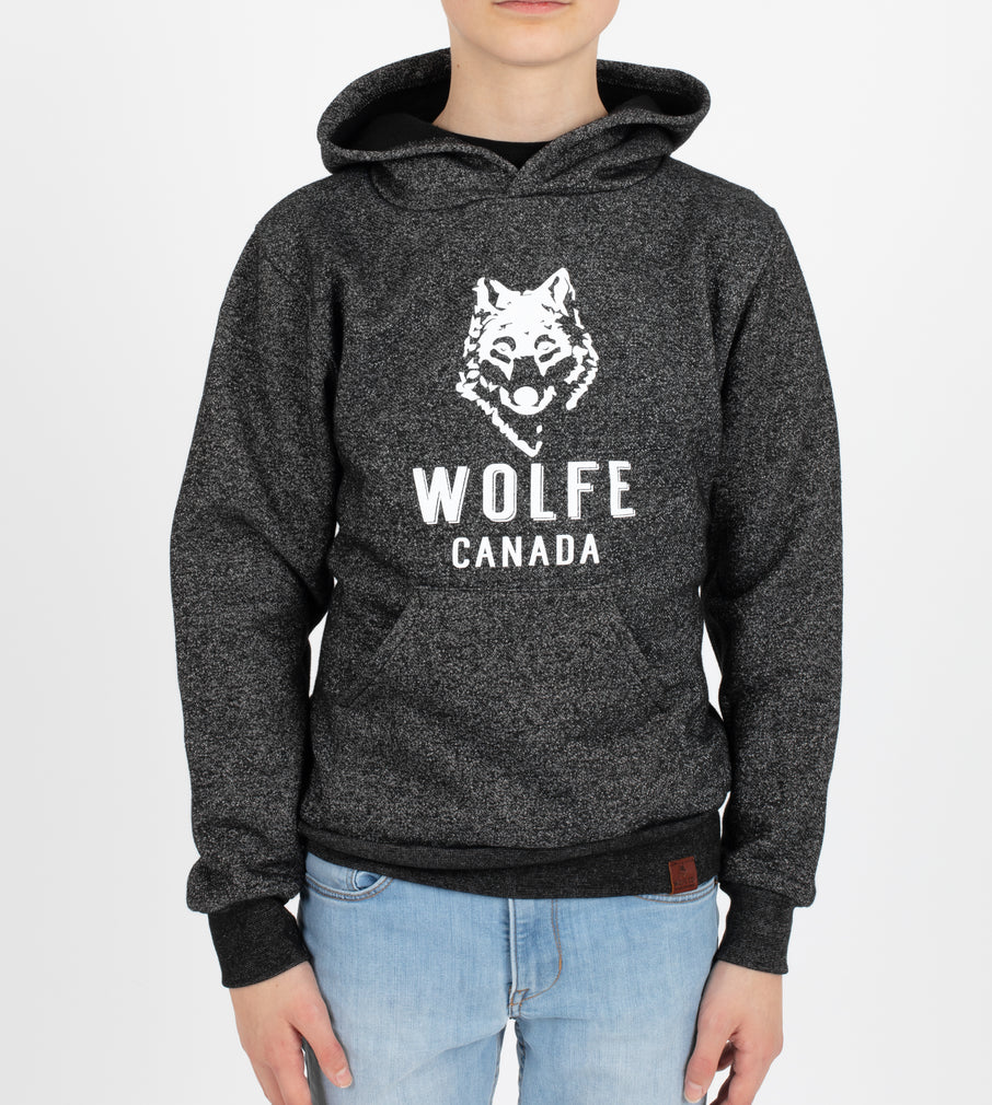 Marled Black Youth Pullover - Tops - Wolfe Co. Apparel and Goods