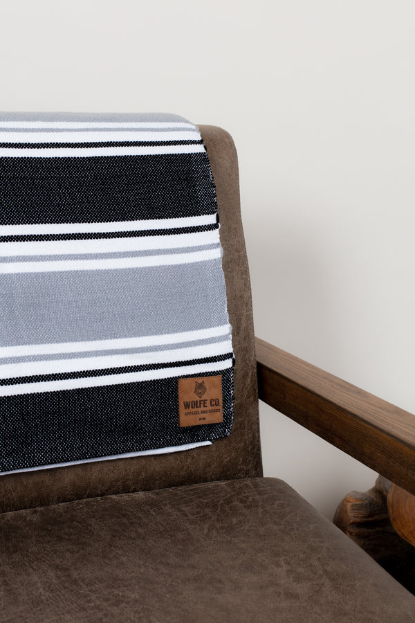 Grey & Black Drummond Blanket - Wolfe Co. Apparel and Goods®