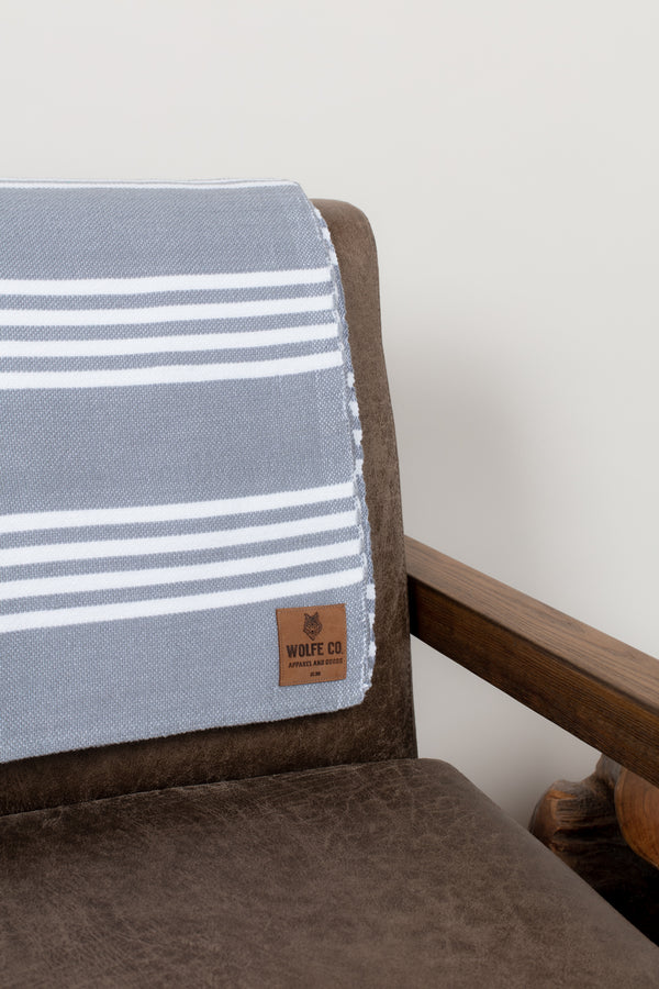 Grey Drummond Blanket - Wolfe Co. Apparel and Goods®