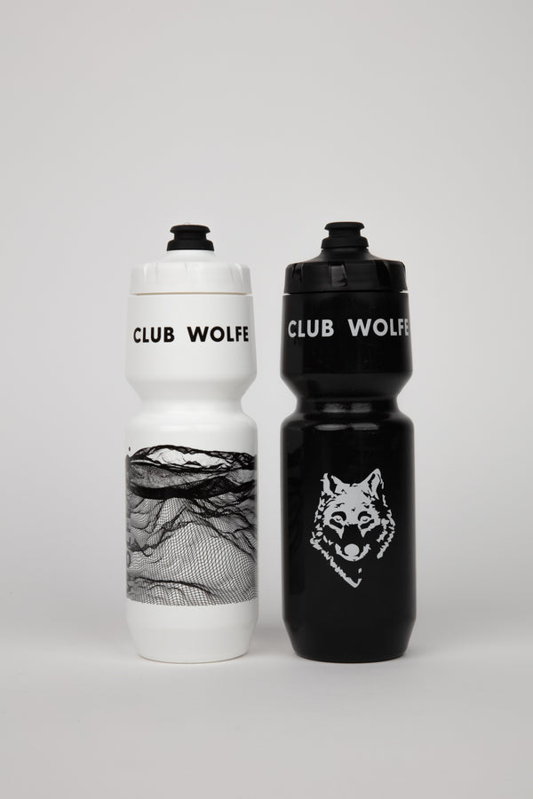 Black and White 26oz BPA-free Water Bottle Purist