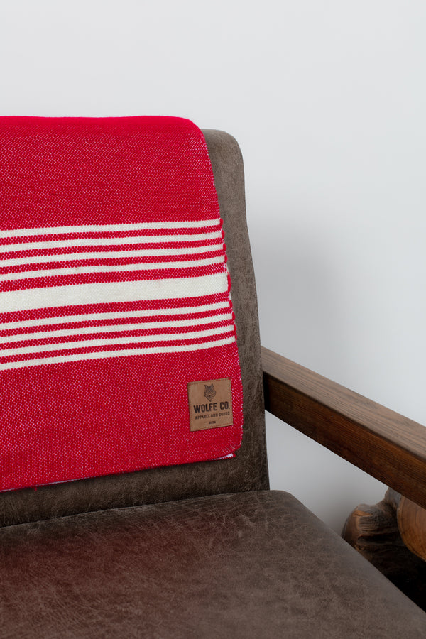 Red Drummond Blanket - Wolfe Co. Apparel and Goods®