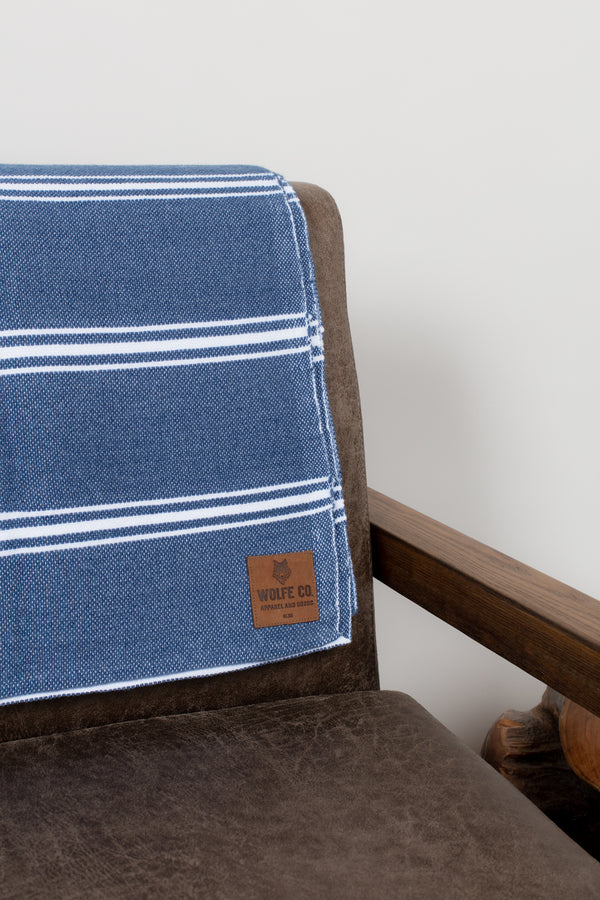 Navy Drummond Blanket - Wolfe Co. Apparel and Goods®